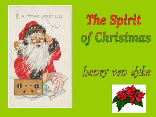 Product picture The Spirit of Christmas by Henry Van Dyke