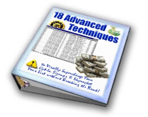 Product picture 18 Advanced Techniques